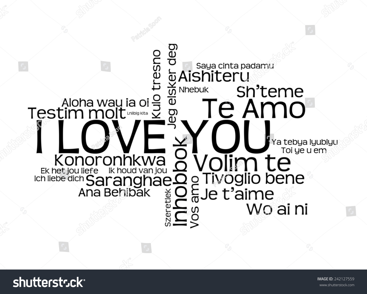 Love words i love you different stock illustration 242127559 love words i love you in different languages of the world words cloud thecheapjerseys
