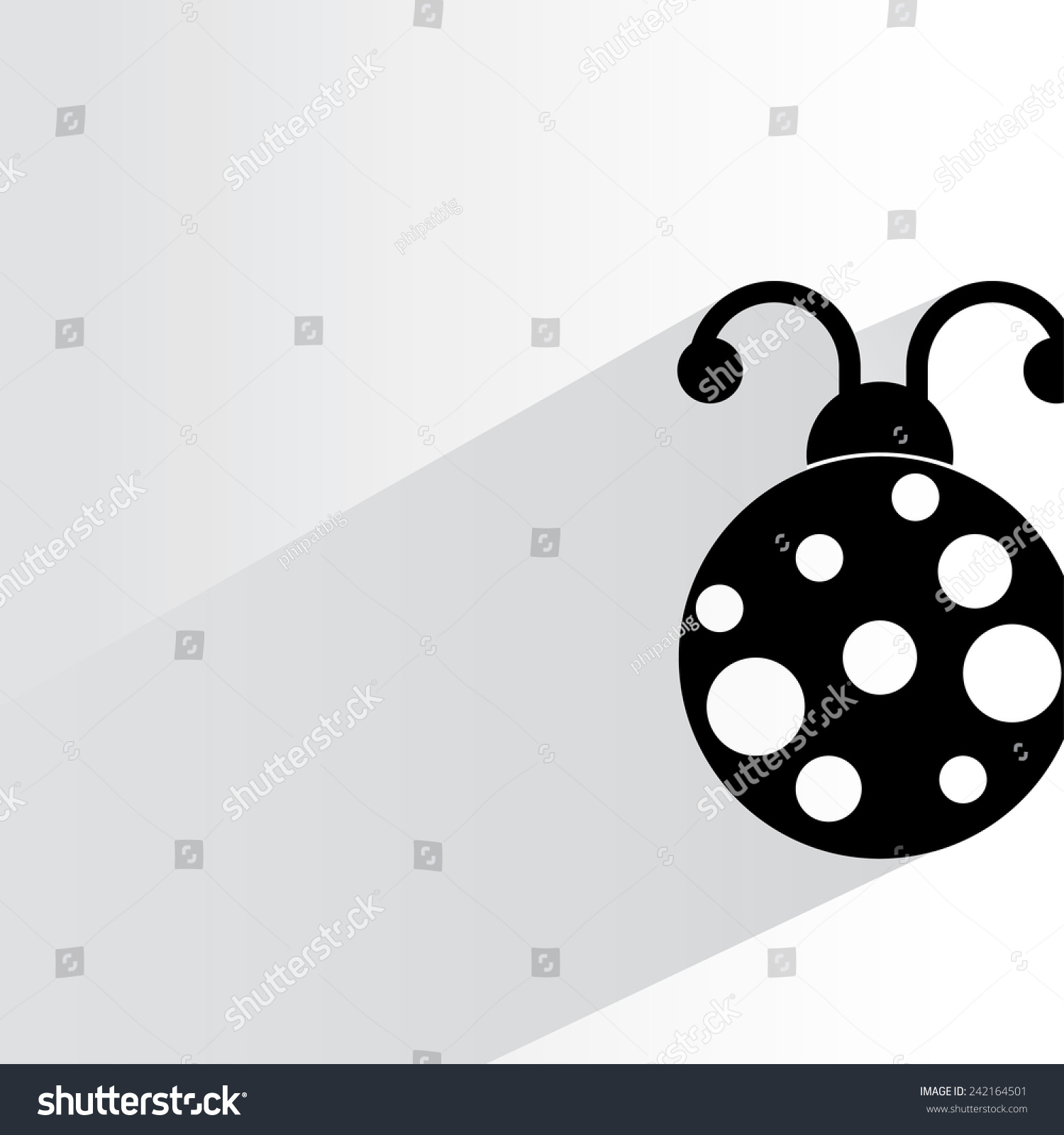 Lady Bug On White Background Flat Stock Vector (Royalty Free) 242164501