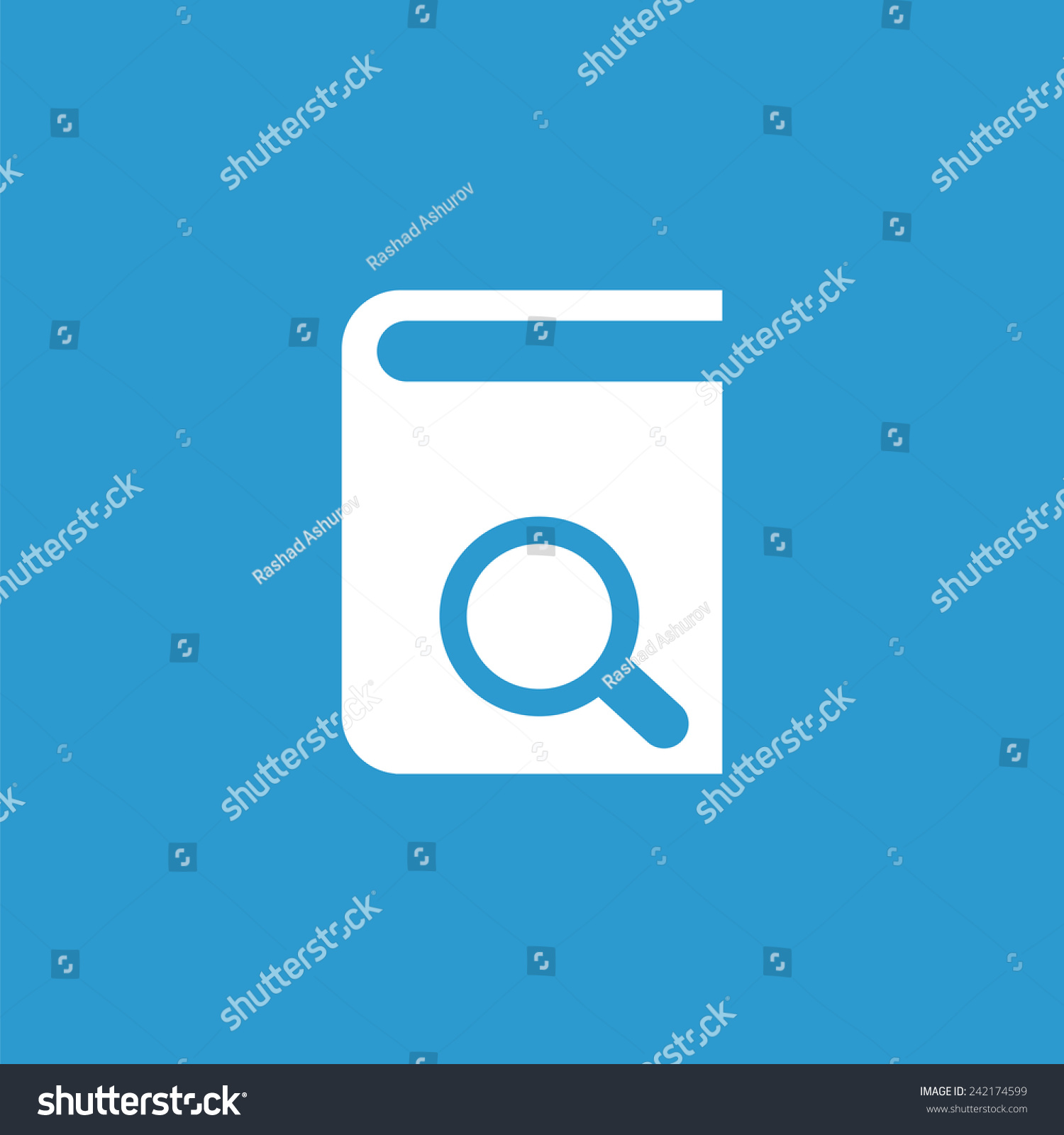 Book Search Icon Isolated White On Stock Vector 242174599 Shutterstock