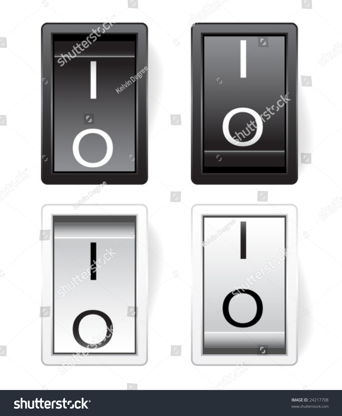 Vector Power Switch On Off Stock Vector (Royalty Free) 24217708 ...
