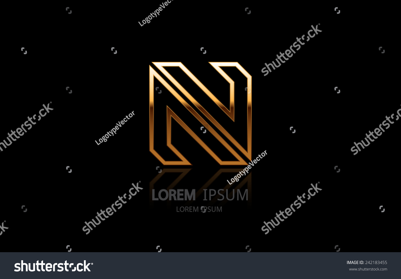 Letter N Logo Alphabet Logotype Vector Stock Vector Royalty Free