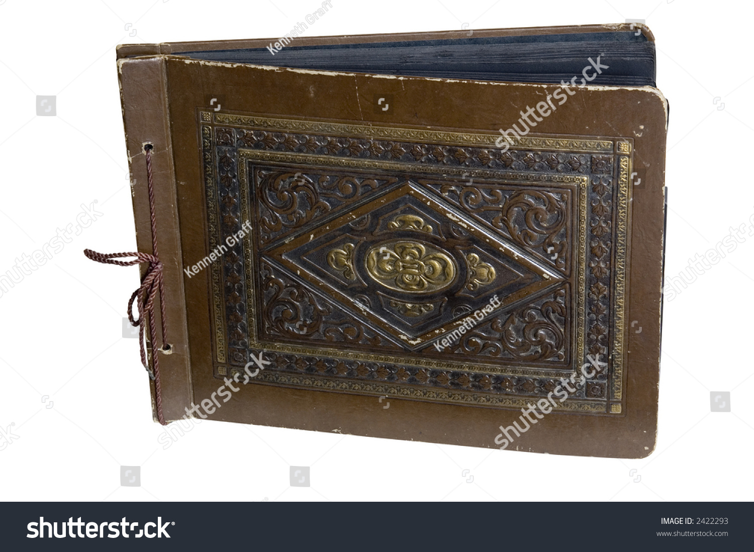 Vintage Photo Album Dating Back To The 1940s With Black Pages