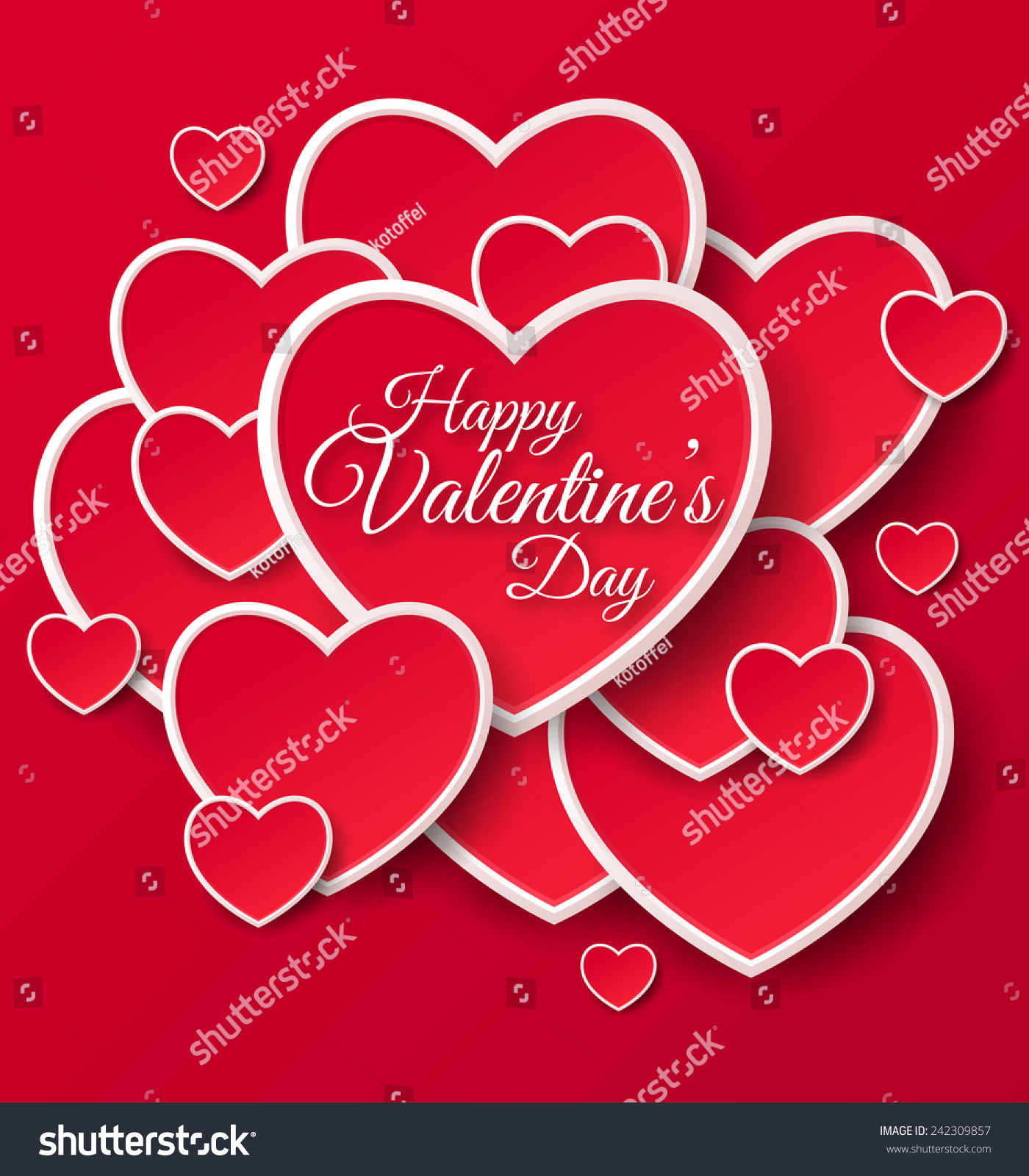 Happy Valentines Day Greeting Card Vector Vector 242309857 – Lovely Valentine Cards