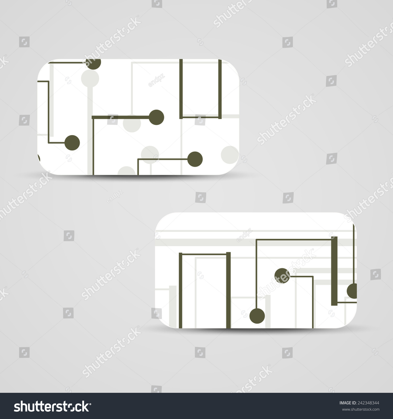 Vector Business Card Set For Your Design Circuit Board Illustration How To Boards Ez Canvas