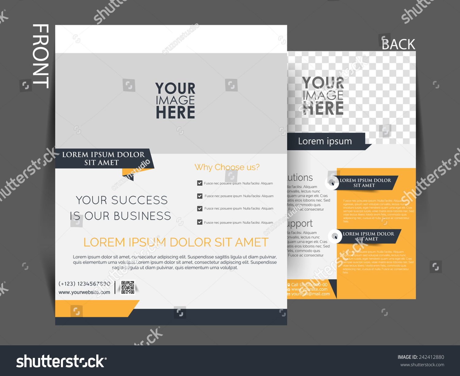 Vector Flyer Brochure Magazine Cover Template Stock Vector 242412880 ...