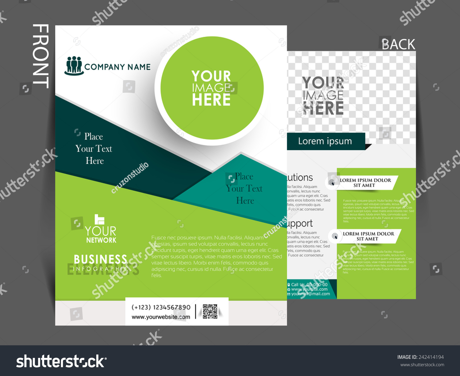 Vector flyer brochure magazine cover template stock vector for Company profile brochure template