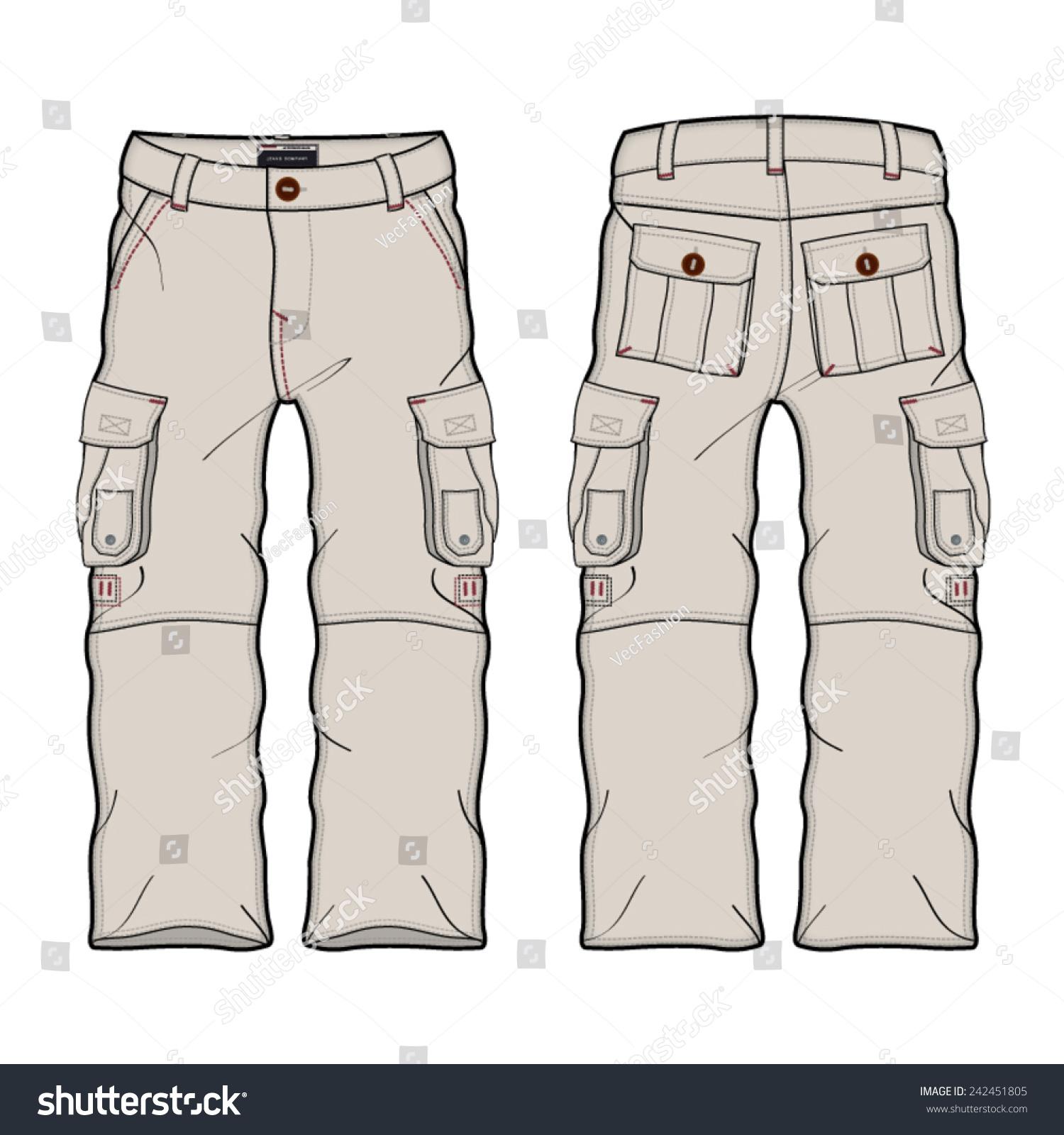 Kids Black Cargo Shorts