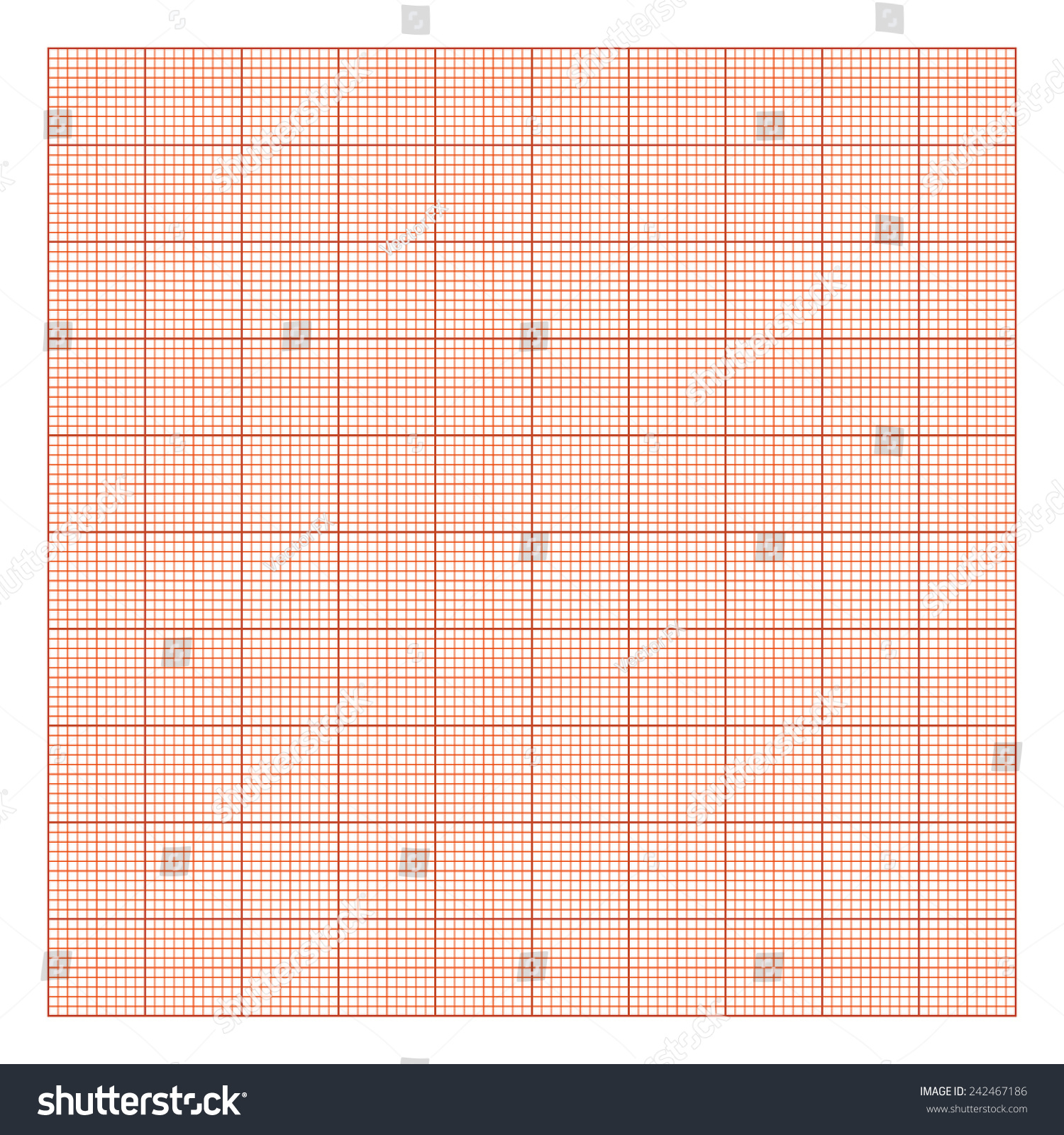 The Graph Paper   Template Of Drawing Paper 10x10 Orange Color For The  Construction Drawings