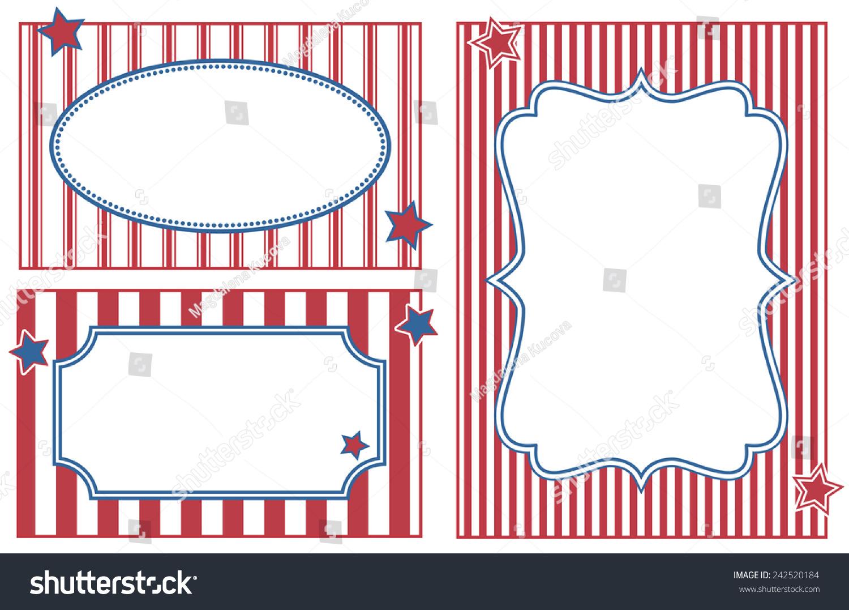 Patriotic Celebration Striped Frames Stock Vector 242520184 ...