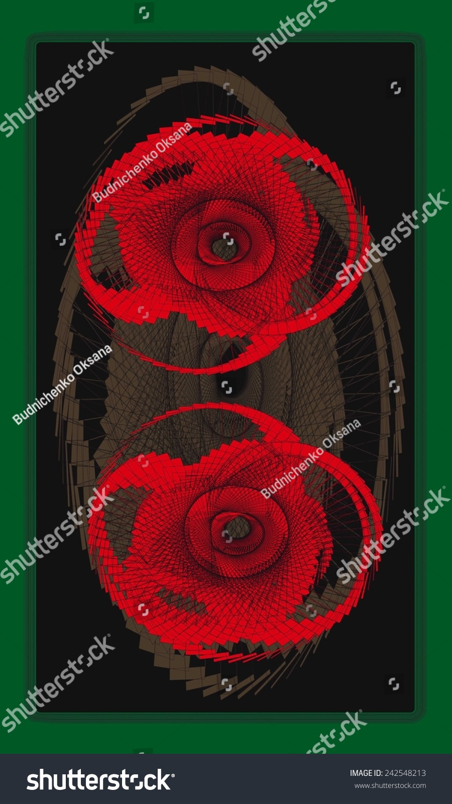 Tarot cards back design poppy flower stock vector 242548213 tarot cards back design poppy flower symbol god of morpheus buycottarizona