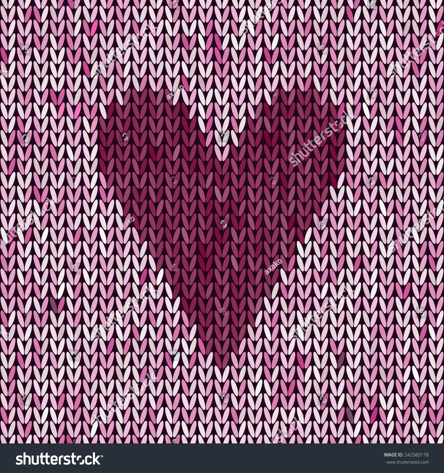 Knitted Pattern Heart Knit Texture Love Stock Vector (2018 ...