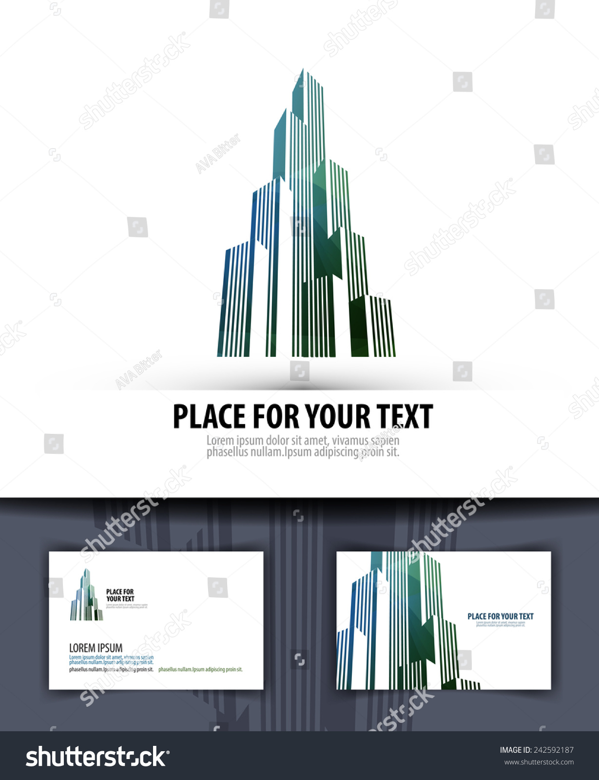 City Logo Icon Emblem Template Business Stock Vector 242592187 ...