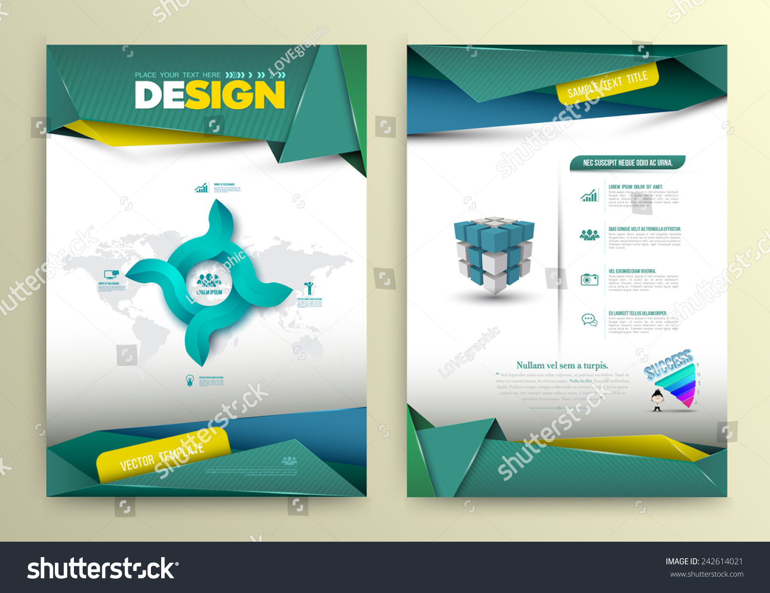Vector Design Page Template Modern Style Stock Vector 242614021 ...