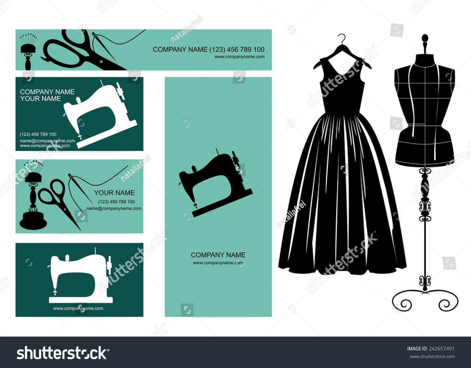 Business cards design dress dressmakers dummy stock vector business cards design dress and dressmakers dummy agents for textile representatives boutiques magicingreecefo Image collections