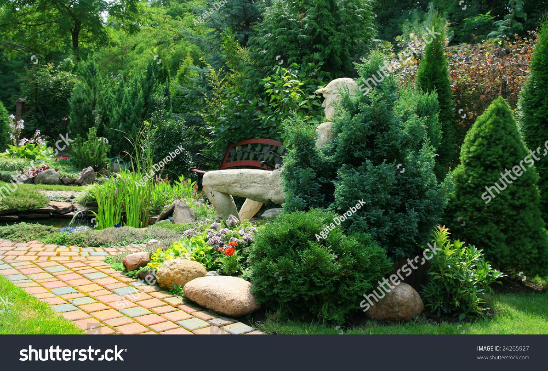Beautiful garden my garden poland stock photo 24265927 for My gardener landscaping