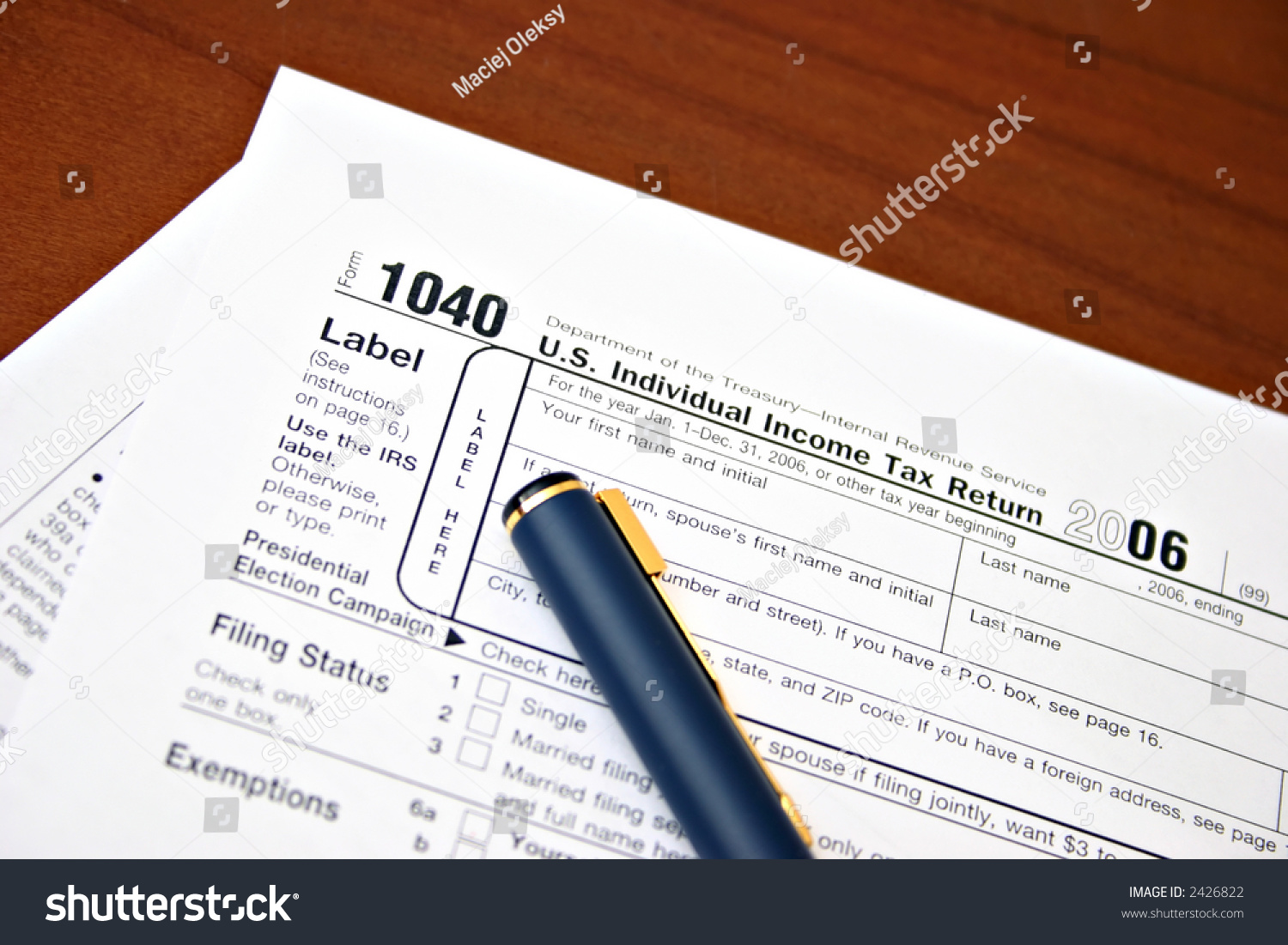 irs tax forms 1040 stock photo 2426822