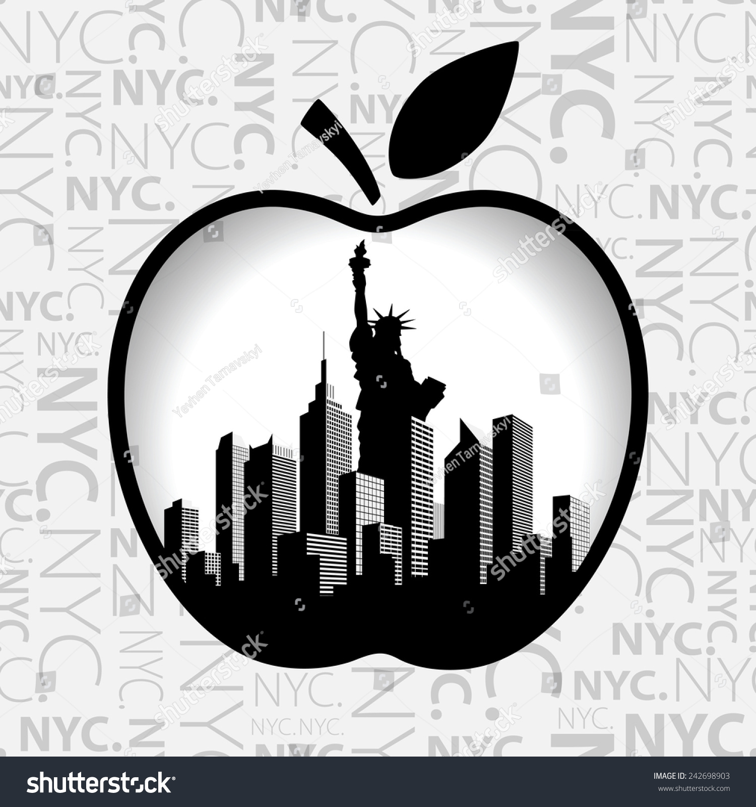Vector New York City Silhouette Big Stock Vector Royalty Free