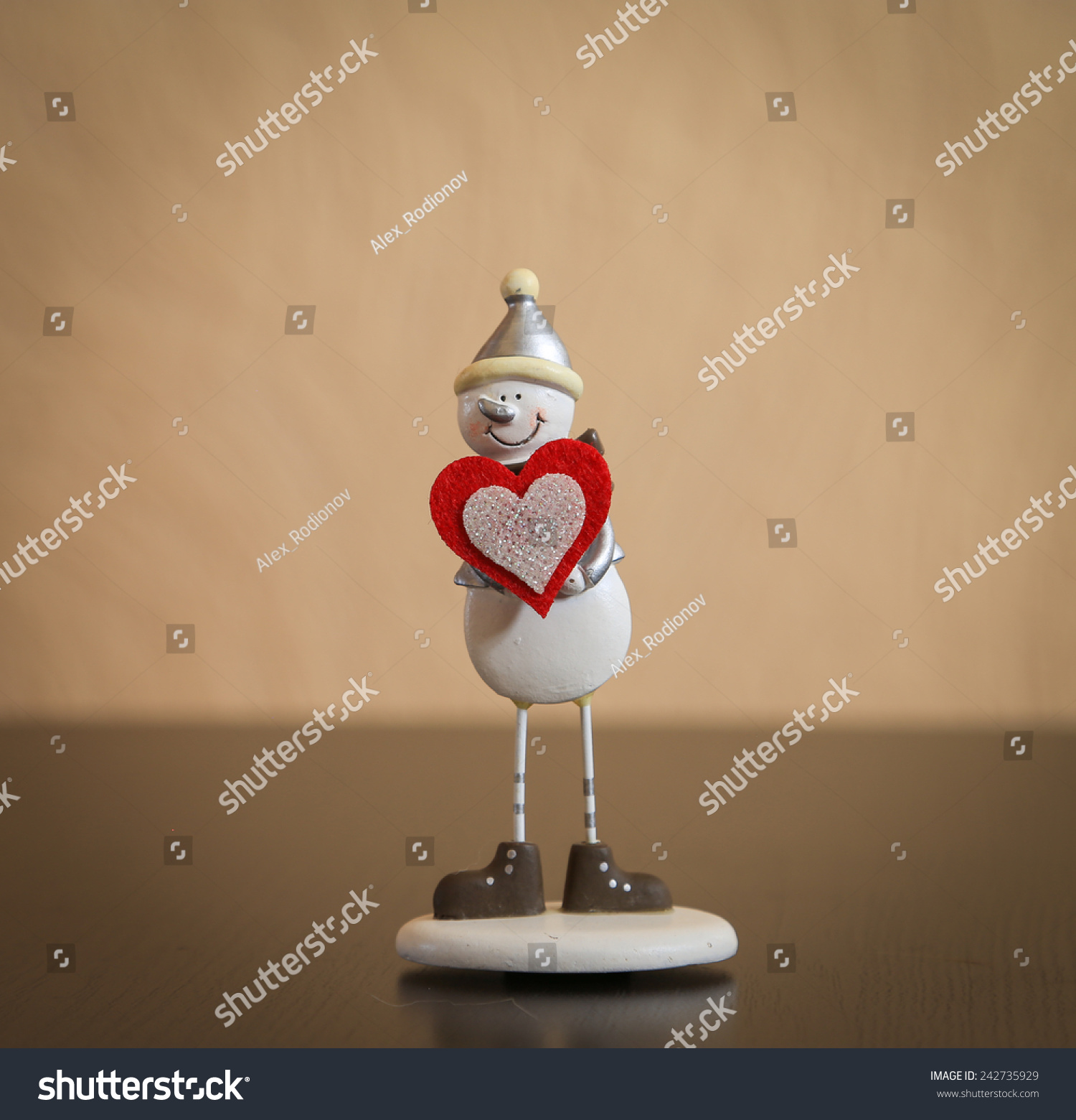 Snowman With Red Heart
