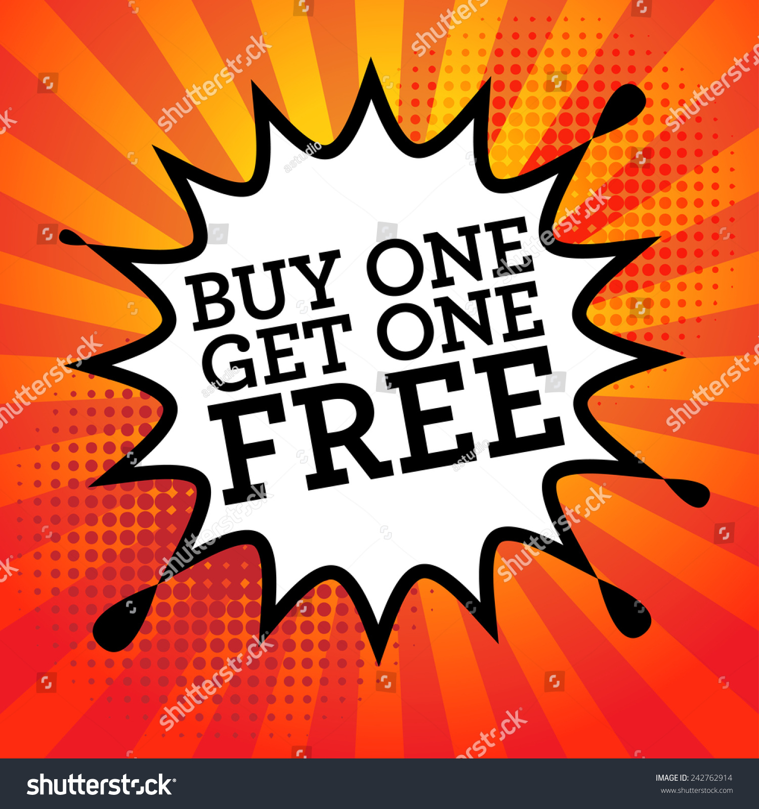 Book explosion with text buy one get one free vector illustration
