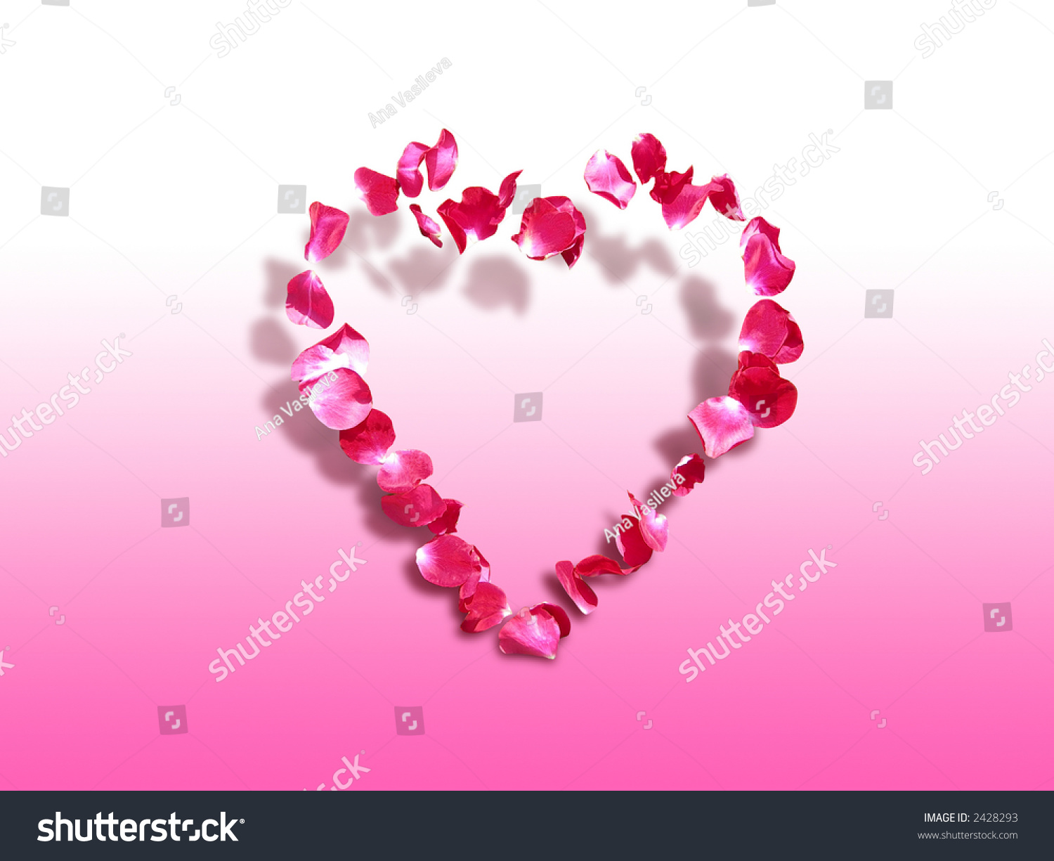 Heart Roses Symbol Love Affection St Stock Photo Edit Now 2428293