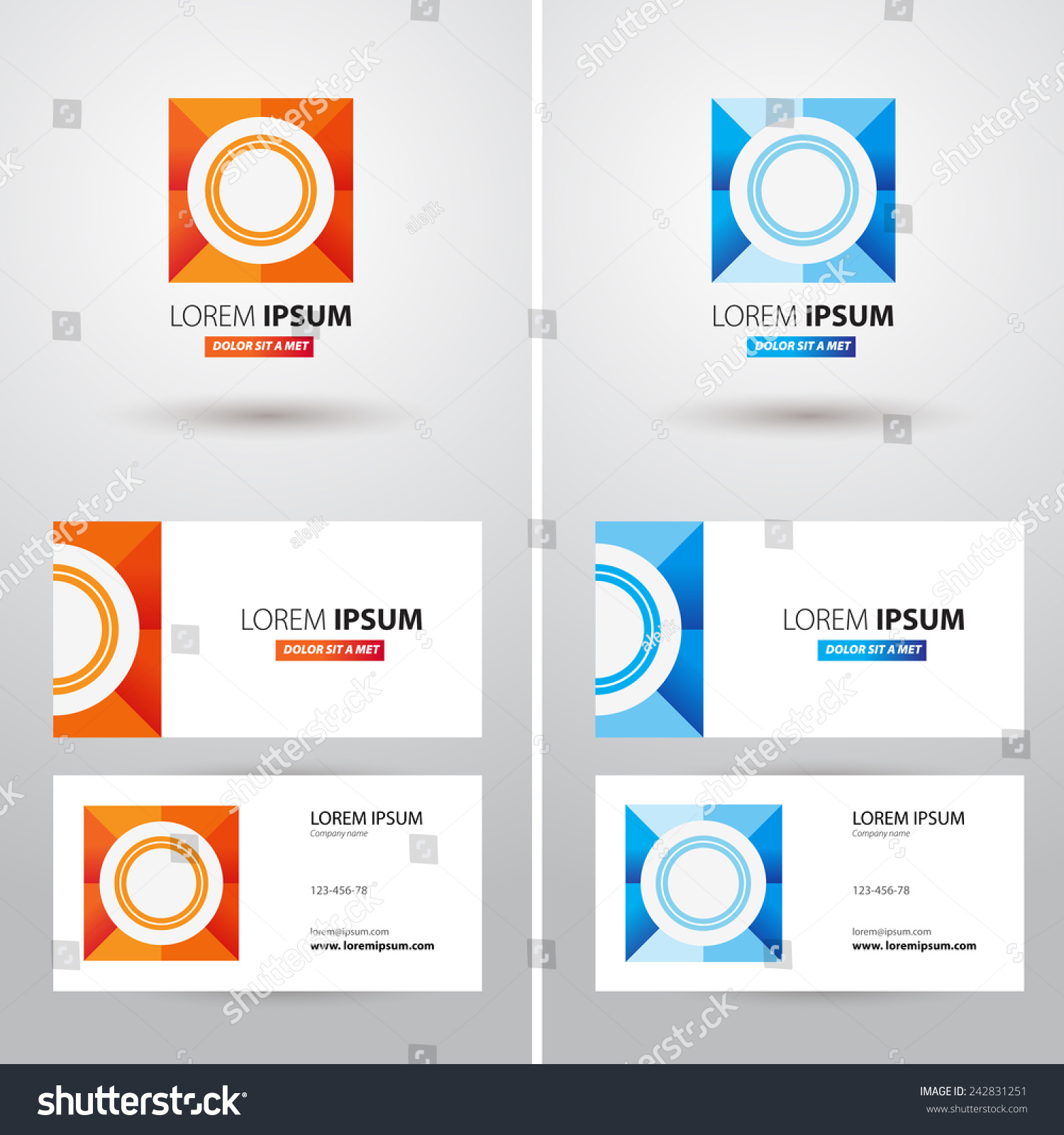 Business card logo text different use stock vector 242831251 business card with logo and text with different use cases two color side vector magicingreecefo Image collections