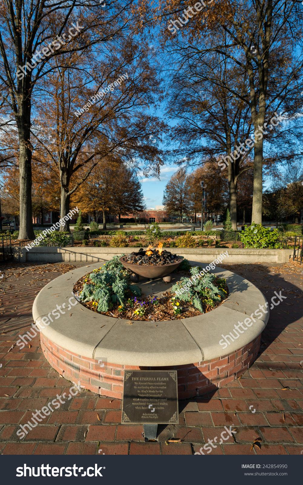 ATLANTA GEORGIA DECEMBER 2 Eternal Flame Stock Photo (Safe to Use ...