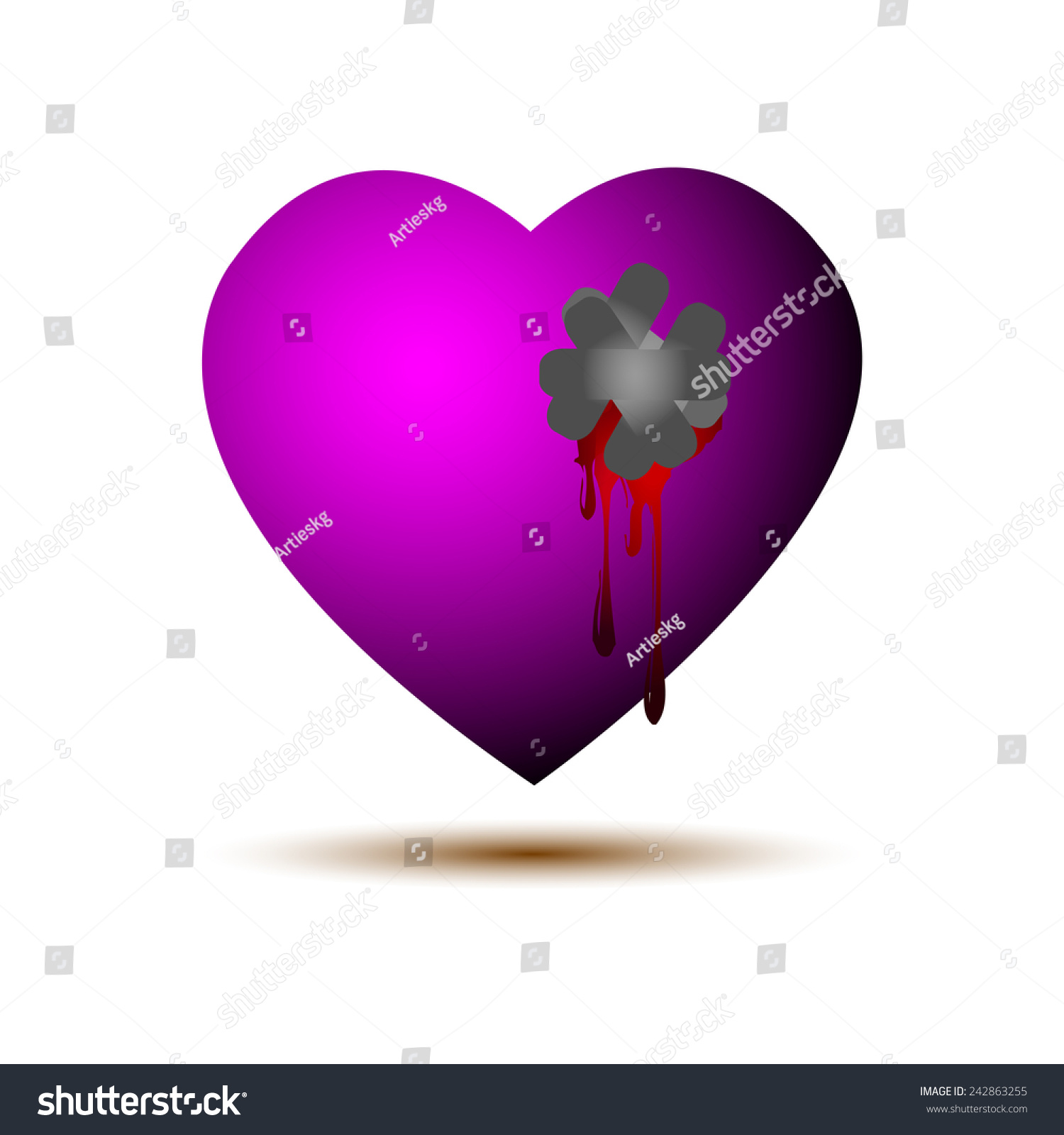Vector illustration bleeding heart stock vector 242863255 vector illustration of bleeding heart buycottarizona