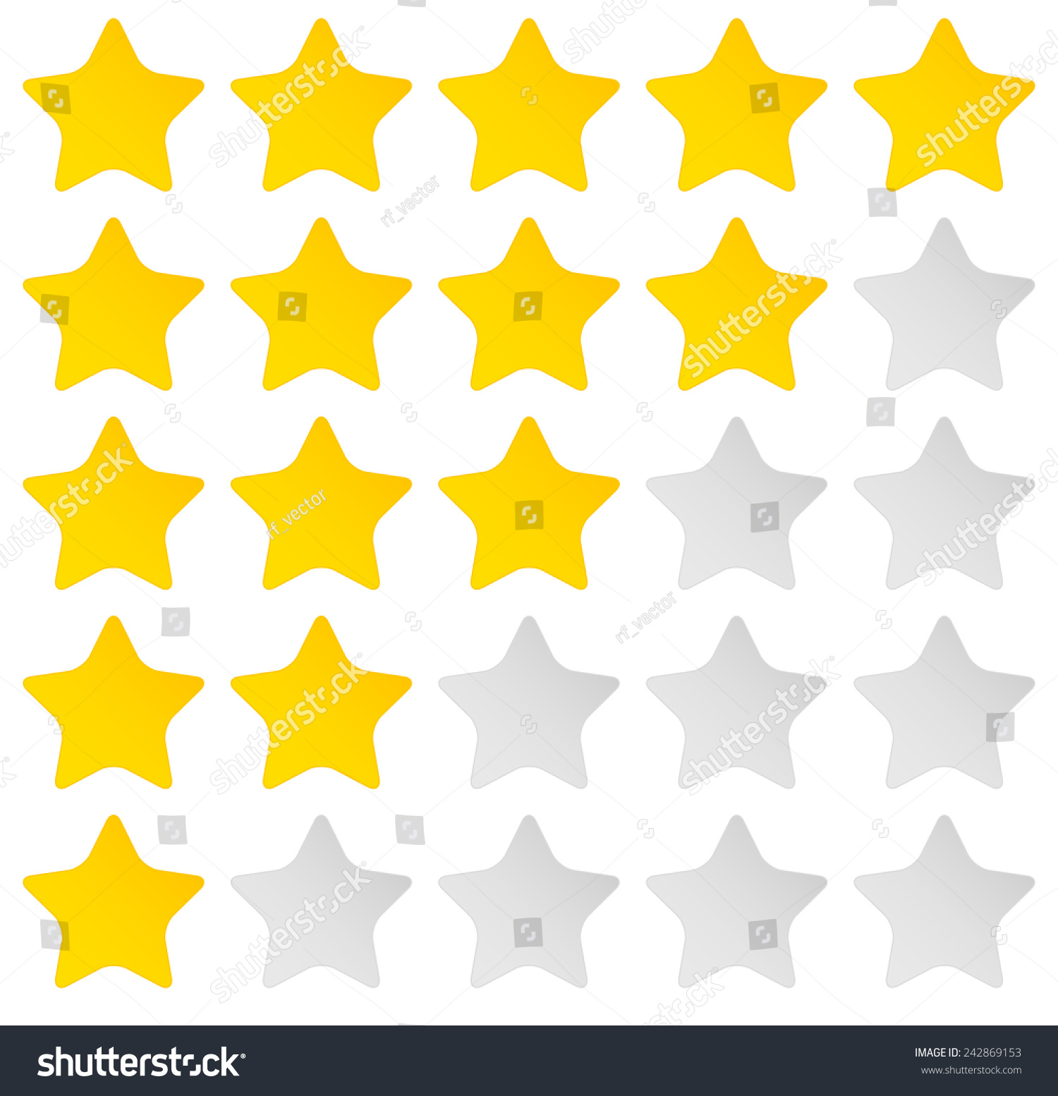 Clipart - 5 Star Rating System