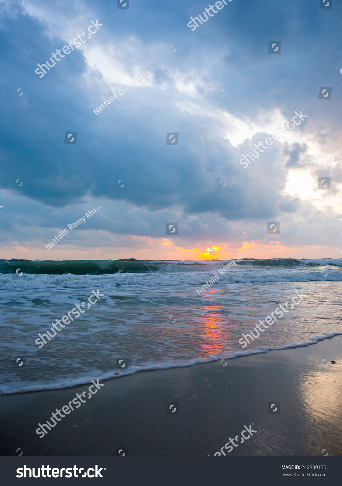 Sea Sunrise Koh Samui Island Thailand Stock Photo ...