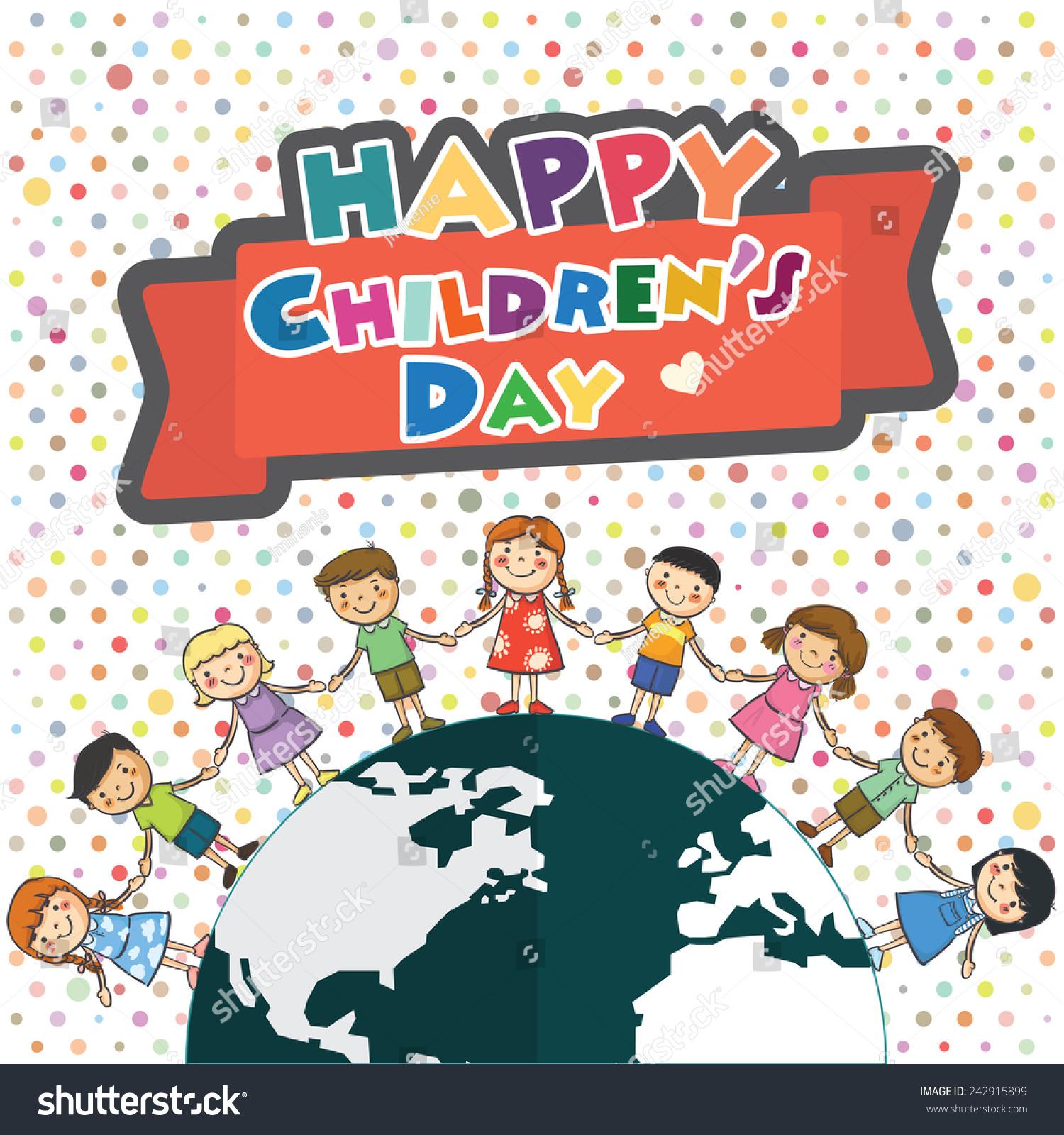 Happy Childrens Day Stock Vector 242915899 - Shutterstock
