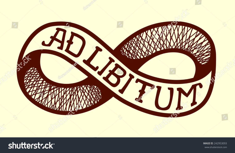 Ad Libitum, Ad-Lib Endless Knot, Infinity Symbol, Vector Tattoo Design Or Brand Image ...