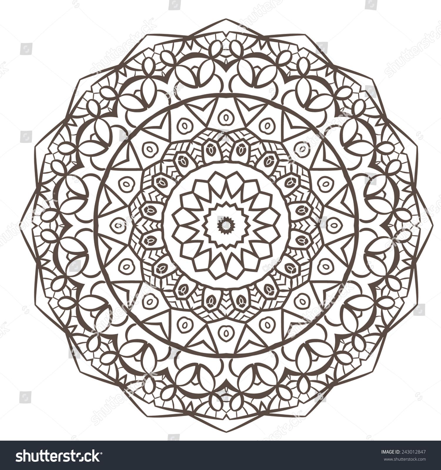 Ethnic Fractal Mandala Vector Meditation Looks Stock Vector ...
