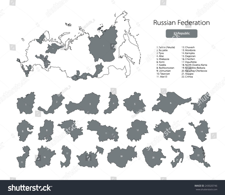 The Russian Federation Republics Below 89