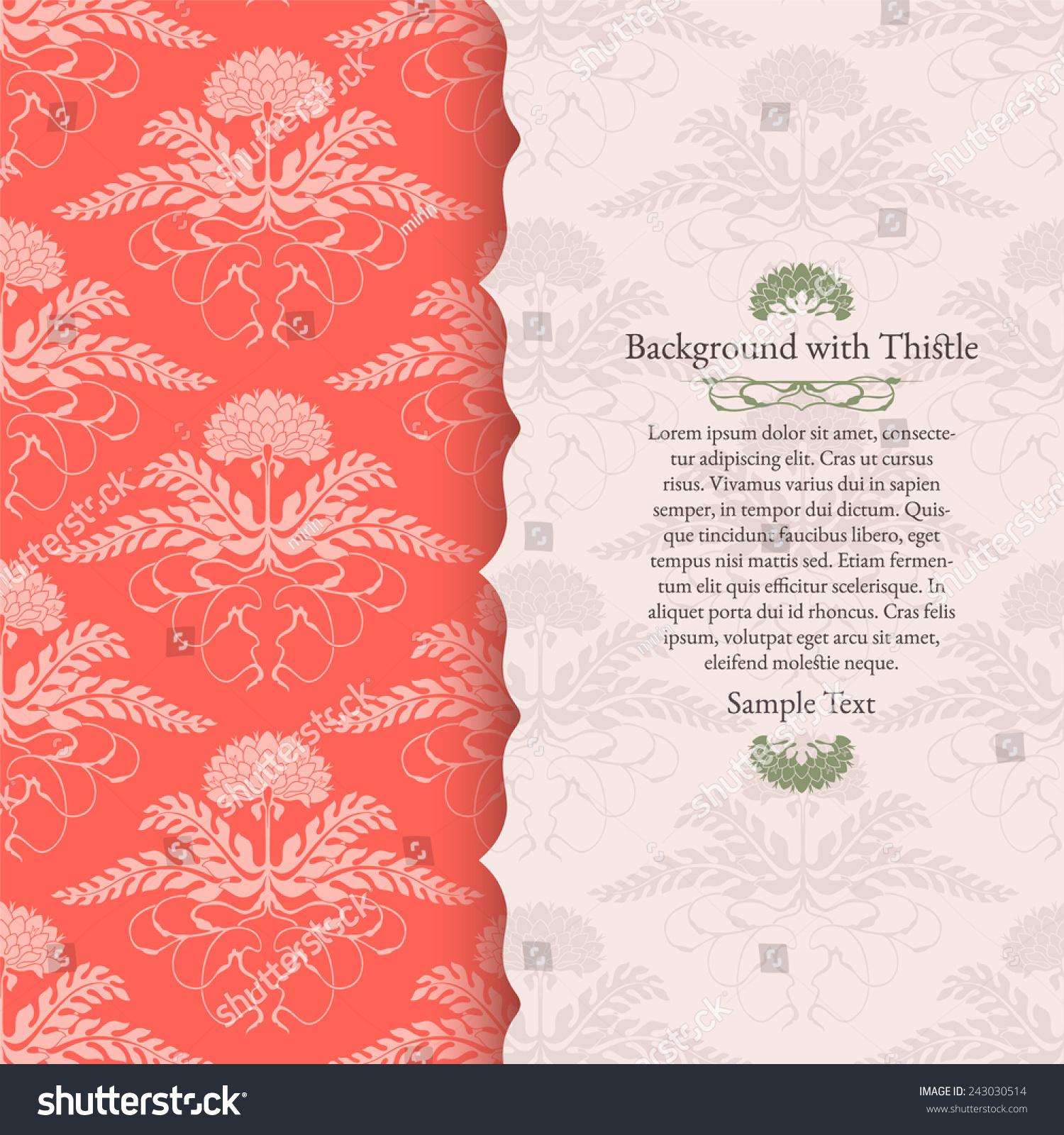 Thistle Themed Wedding Invitations - The Best Wedding 2018