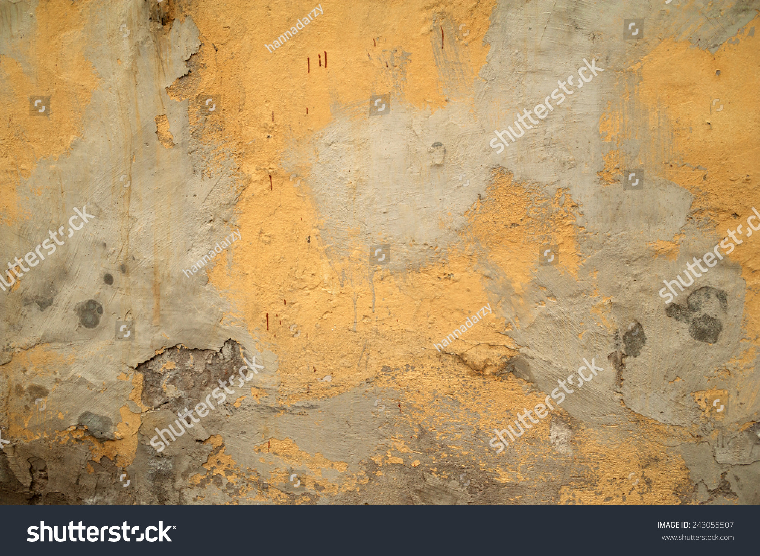Empty old art texture of plaster brick wall. Painted bad scratched ...