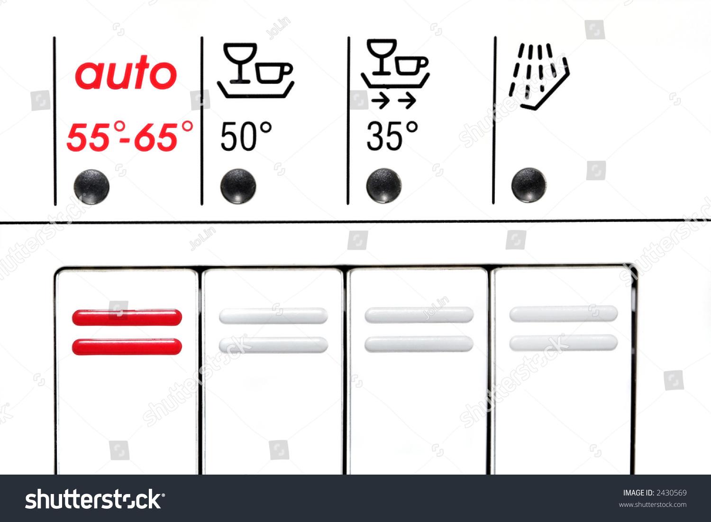 Front Control Panel Details Symbols Dishwasher Stock Photo Edit Now