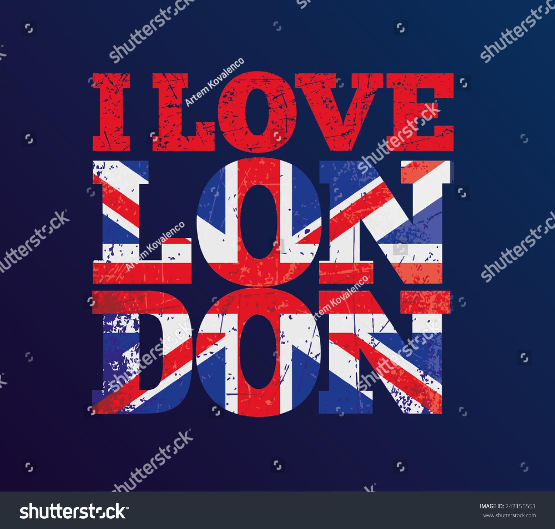 Shirt design london - Vector Illustration T Shirt Design I Love London T Shirt Graphics