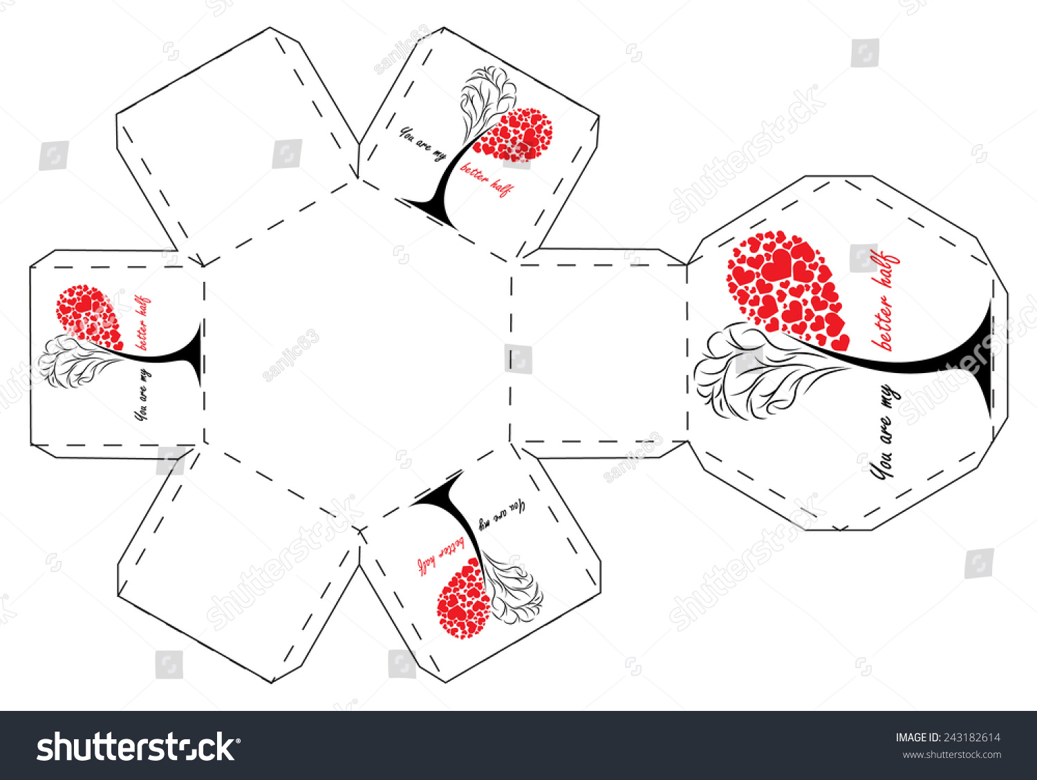 valentines day gift box template stock vector royalty free