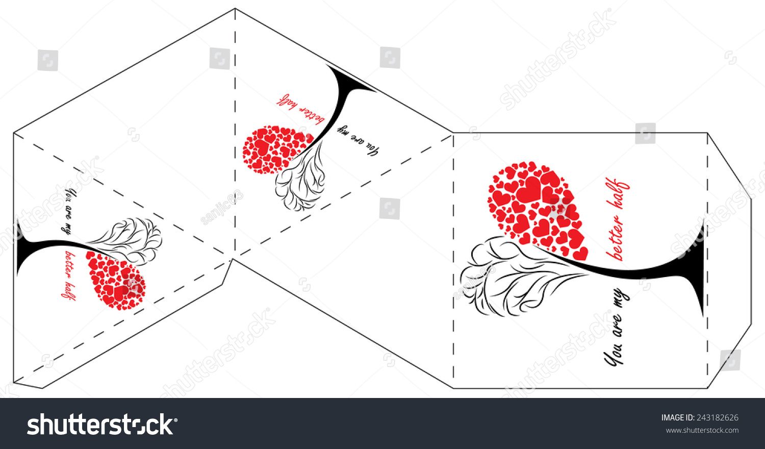 Valentines Day Gift Box Template