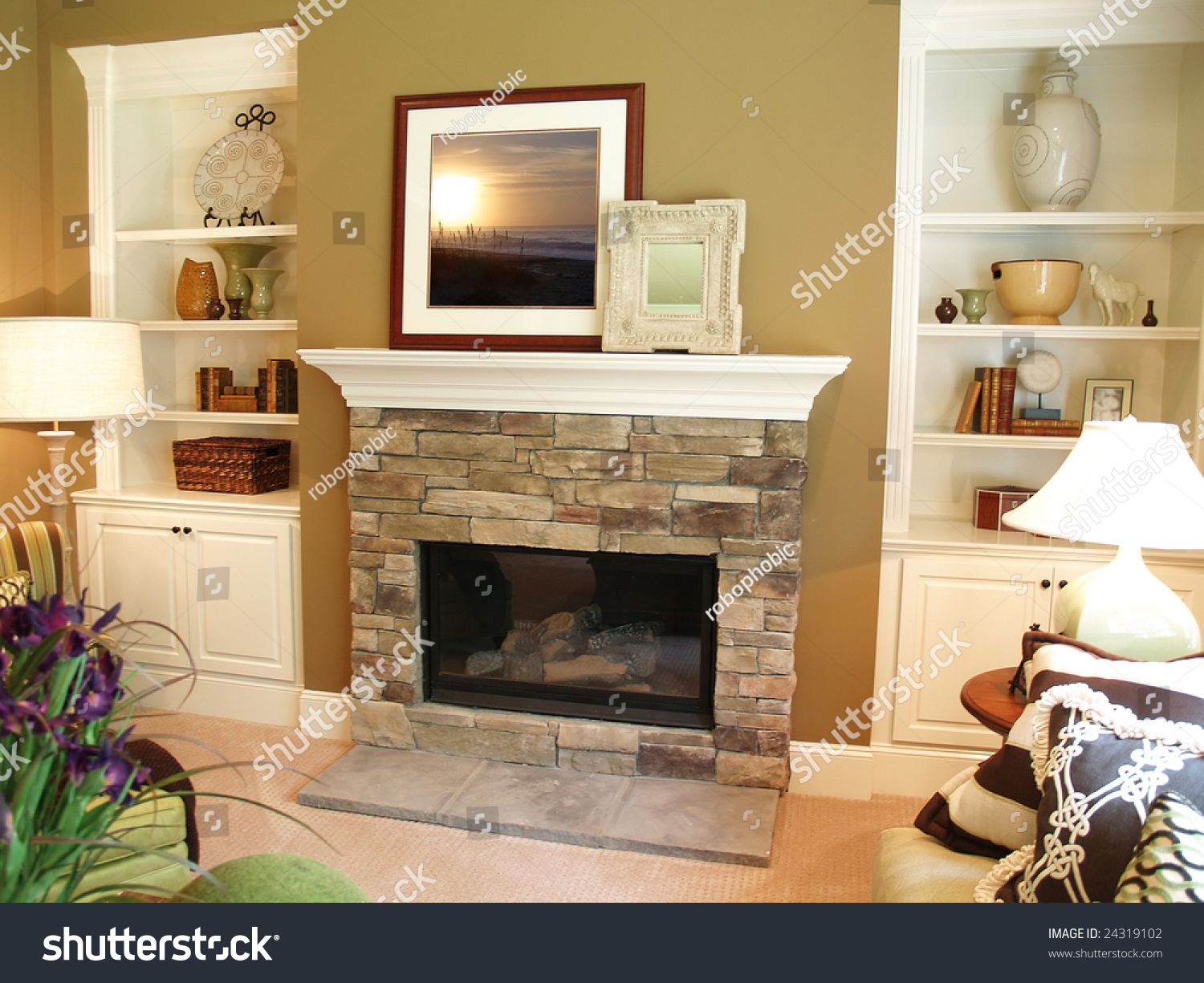 Diy Built In Bookcase With Fireplace Add Mantel Over Fireplace And Put Tv There Instead Home