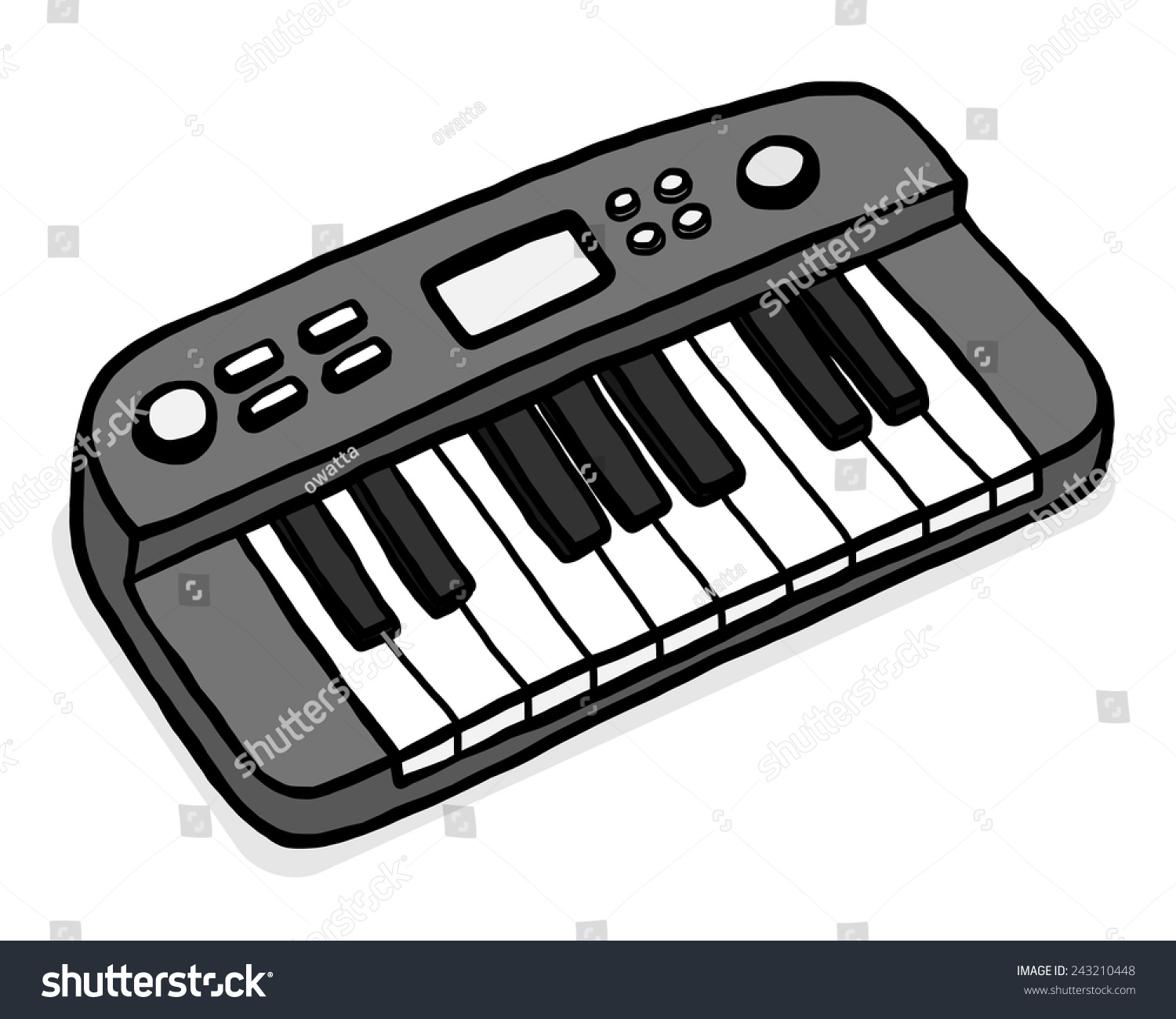 Electronic Musical Keyboard Cartoon Vector Illustration Stock Vector Royalty Free 243210448