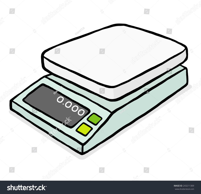 Digital Balances Cartoon Vector Illustration Hand Stock Vector (Royalty  Free) 243211309