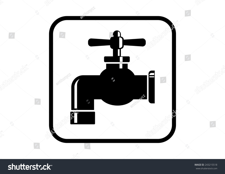 Faucet vector.   EZ Canvas