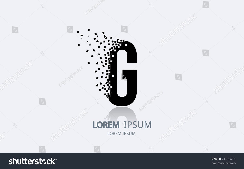 letter g logo alphabet logotype vector stock vector