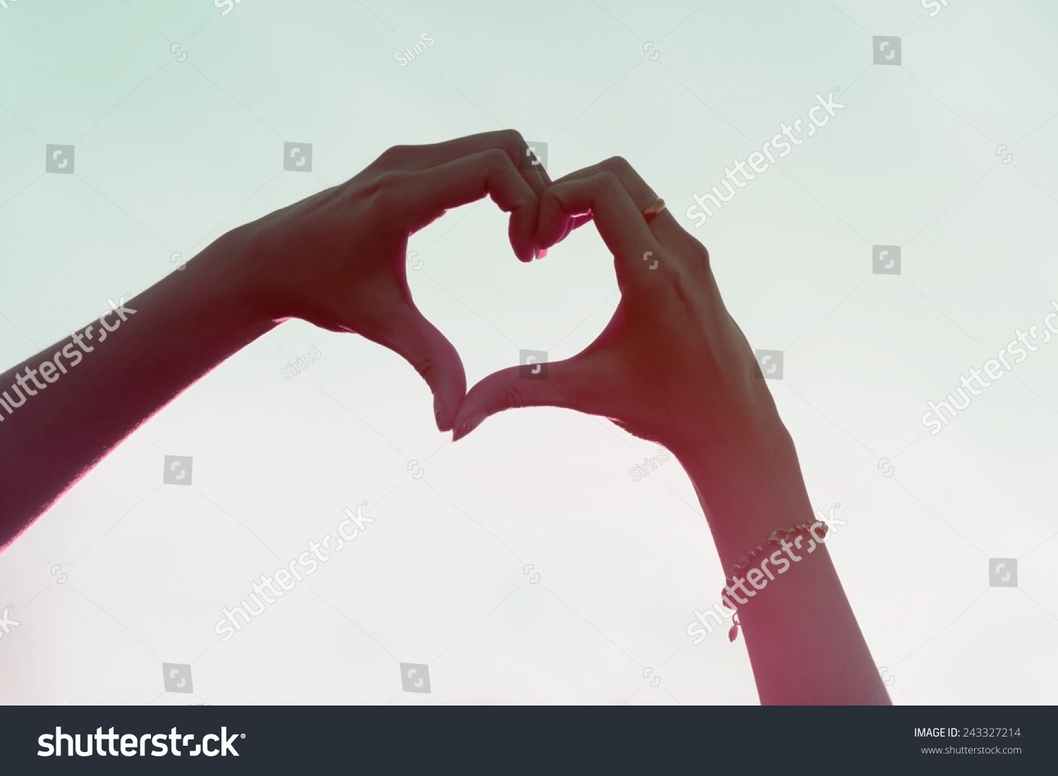 Love Sign Hand Heart Symbol Afternoon Stock Photo Edit Now