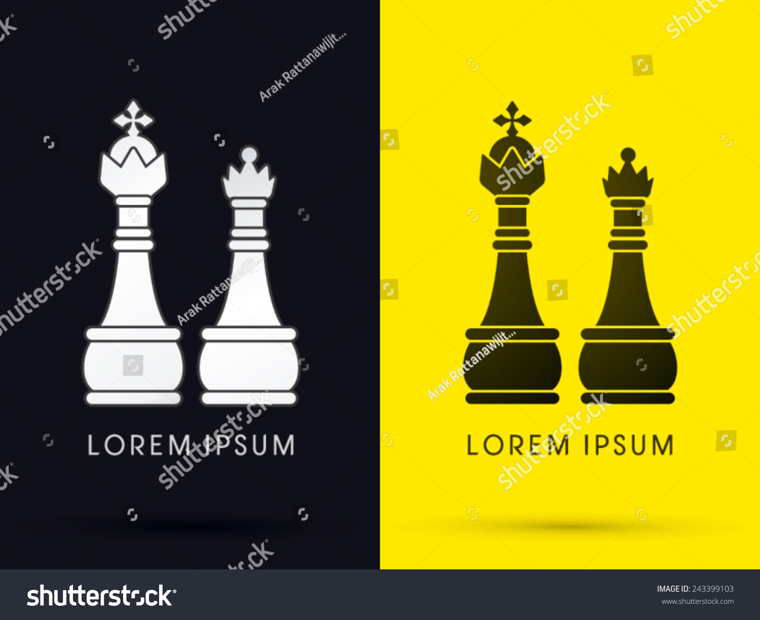 King queen chess logo symbol icon stock vector 243399103 king and queen chess logo symbol icon graphic vector biocorpaavc Gallery