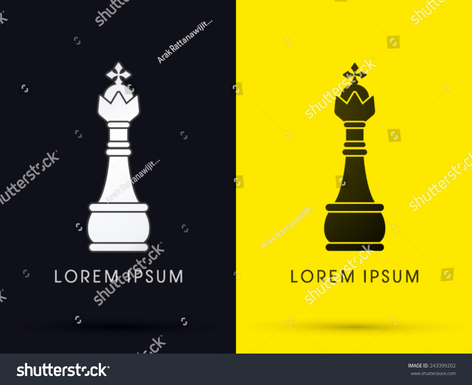 King chess logo symbol icon graphic stock vector 243399202 king chess logo symbol icon graphic vector biocorpaavc Gallery