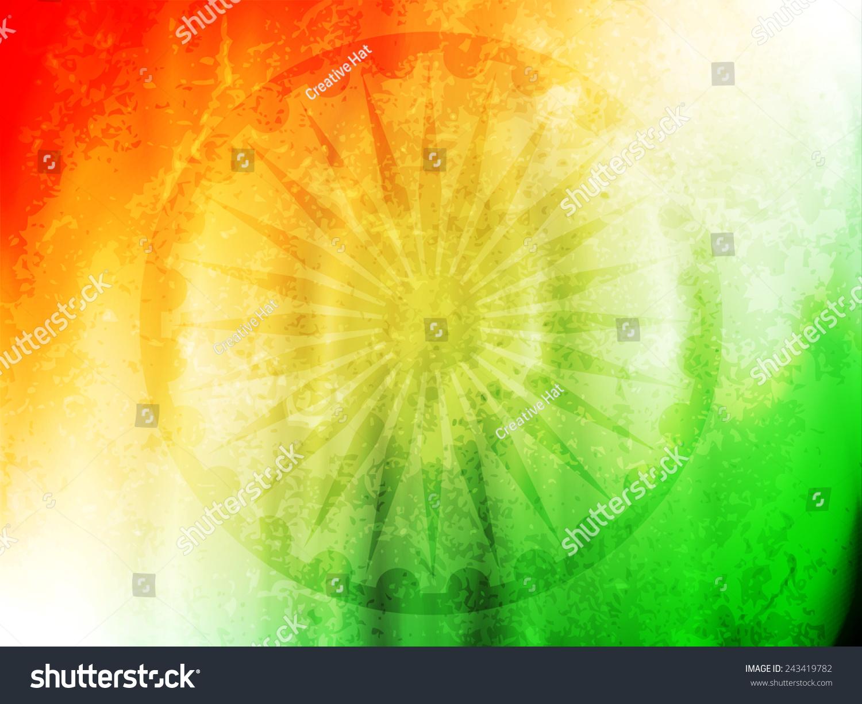 Indian Flag Theme: Vector Illustration Indian Flag Theme Background Stock