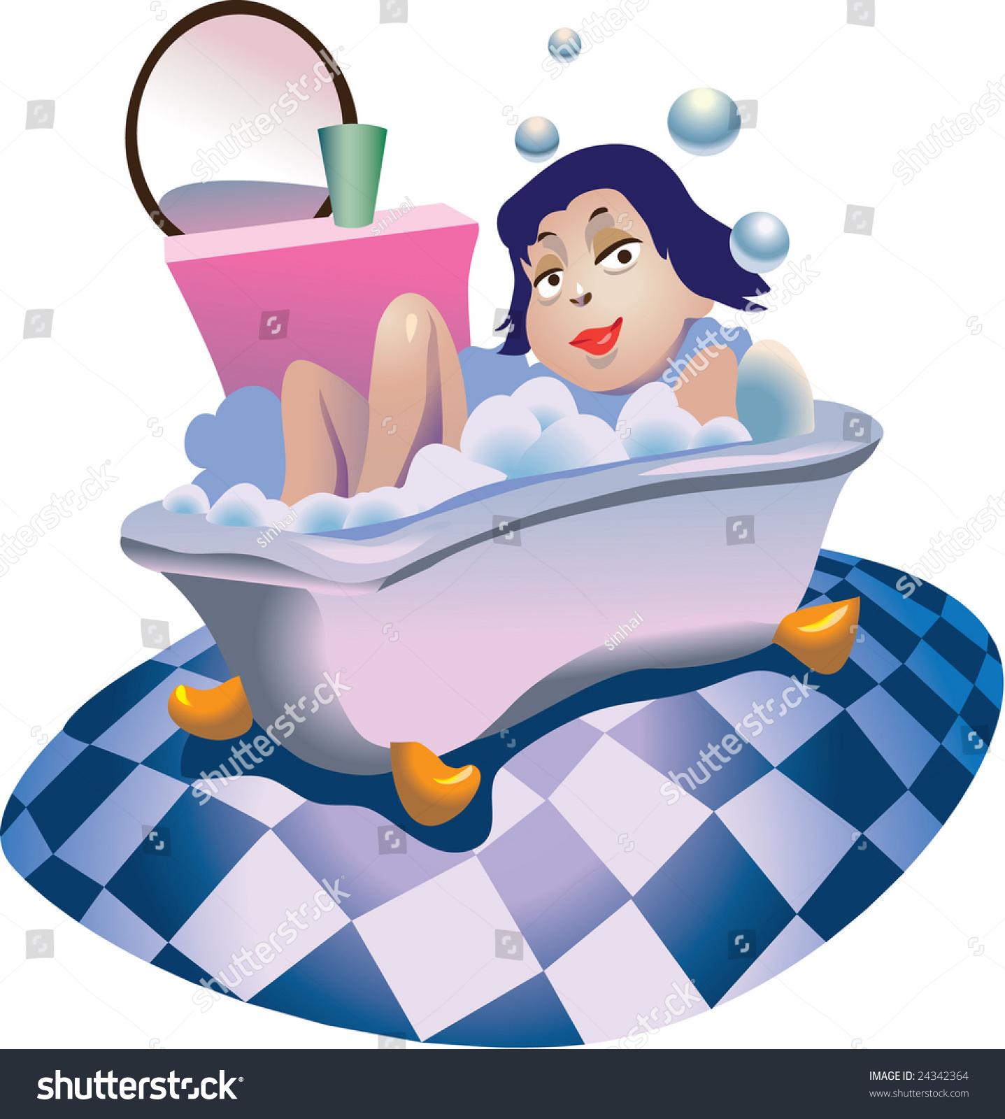 Girl Bath Stock Illustration 24342364 - Shutterstock