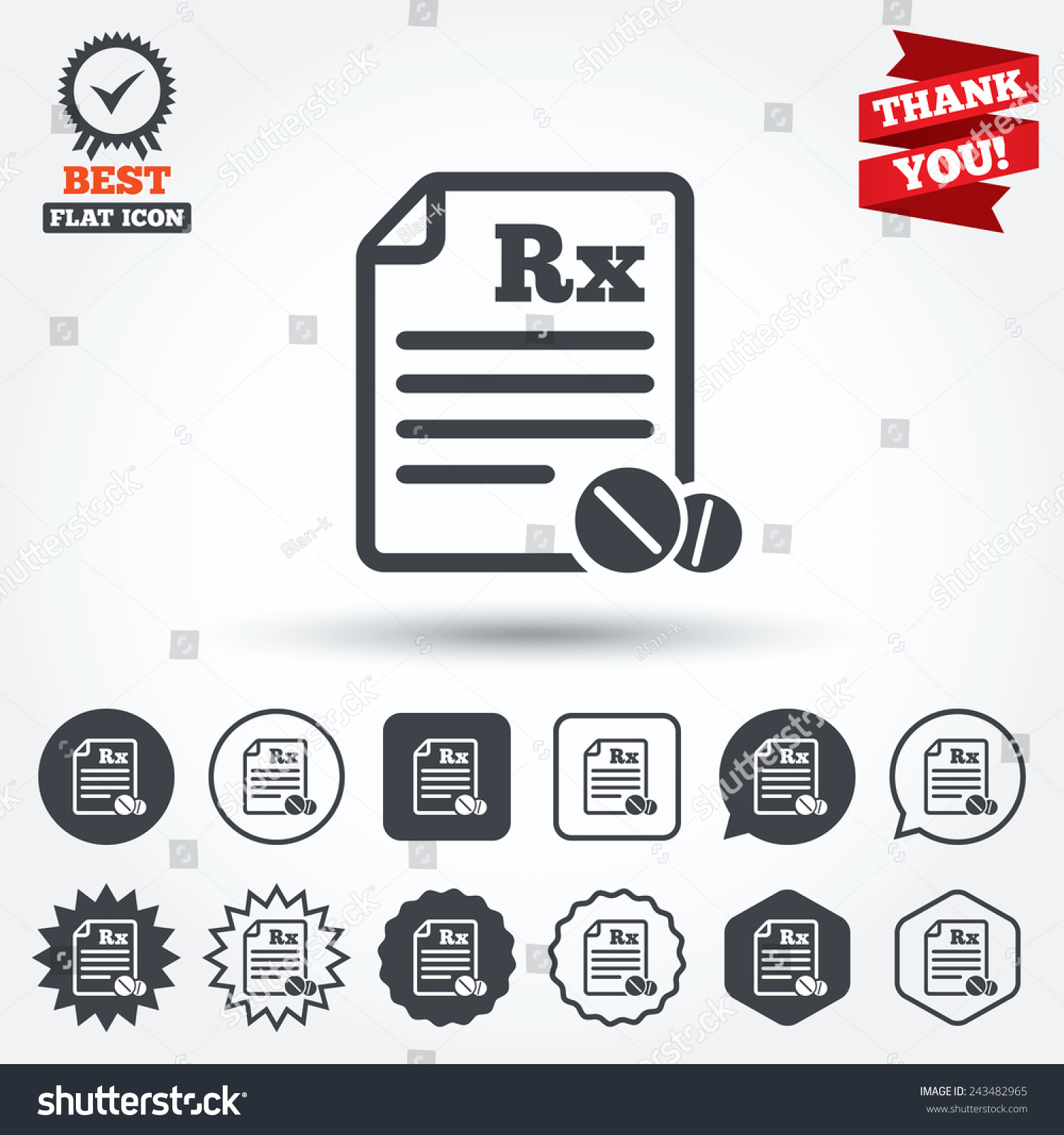 Medical prescription rx sign icon pharmacy stock vector 243482965 medical prescription rx sign icon pharmacy or medicine symbol with round tablets circle buycottarizona